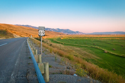 Highway Route 89 South Wyoming Landscape
