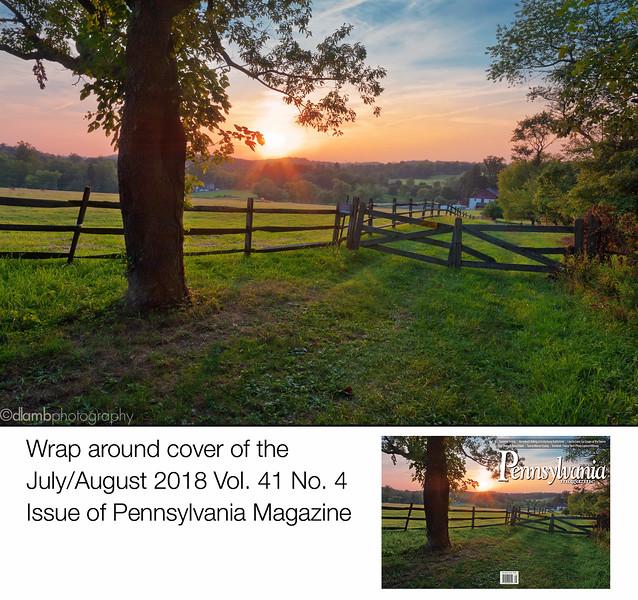 Pennsylvanian Summer Sunset- Pennsylvania Magazine Cover 2018
