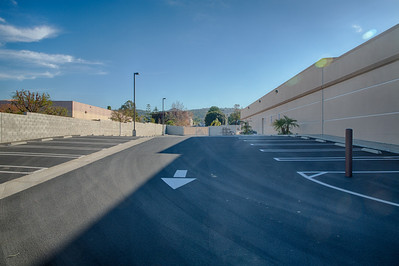 This is the driveway beside the loading dock.  The loading dock is on the right side of the picture.