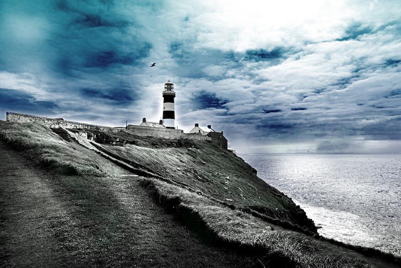old head lighthouse 80415_6061 3 bw blu