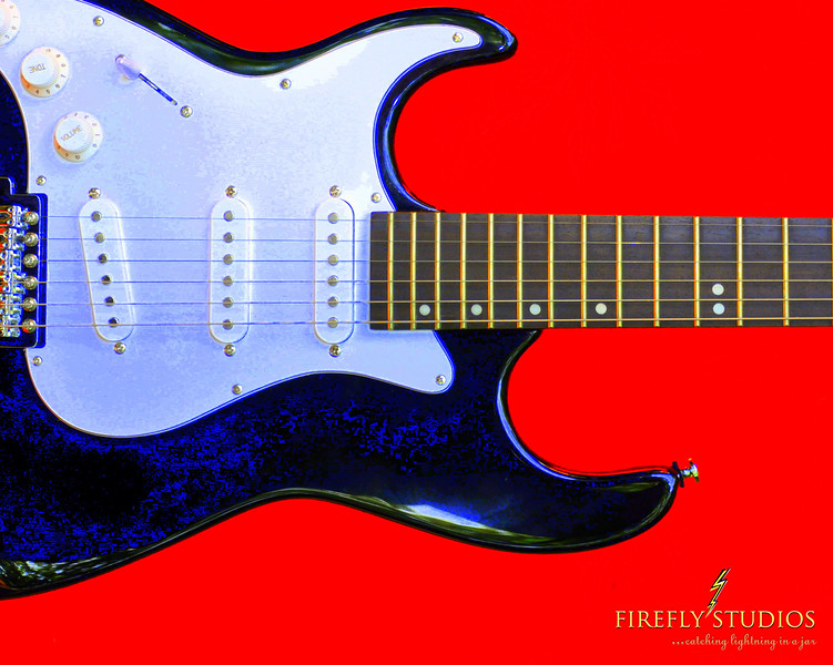 guitar red brand