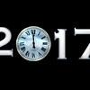 clock 2017 white