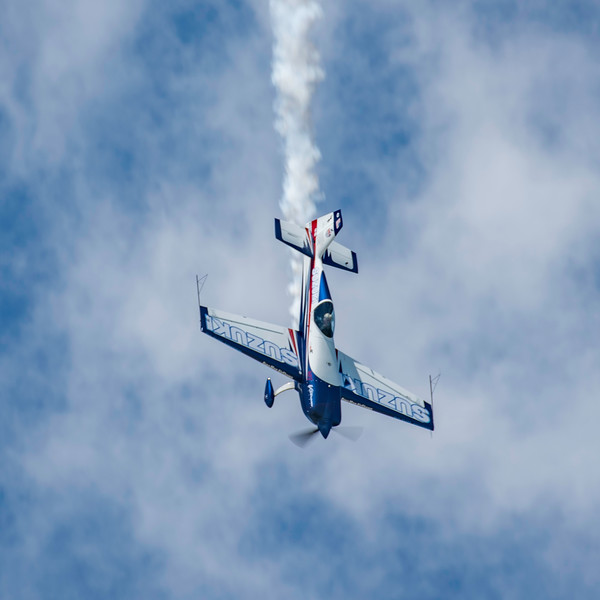 Bob Freeman, a veteran aerobatic pilot, amazes the crowd at the 2017 Vectren Dayton Air Show.