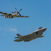 "America's newest fighter, the Lockheed Martin F-35 Lightning II, performing in the feature show as a a Heritage Flight with the P-51 Mustang for the first time ever! The Lightning II is a 5th generation fighter that combines advanced stealth with fighter speed and agility. Three distinct variants of the F-35 will be flown by the U.S. Air Force, the U.S. Navy and the U.S. Marine Corps. The F-35A is flown by the U.S. Air Force. The F-35 will travel to Dayton from the 56th Fighter Squadron at Luke AFB, Arizona. It is flown by Major Will ""D-Rail"" Andreotta."
