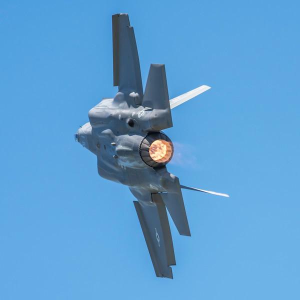 "The F-35 ""burning and turning"""