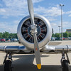 A military trainer on display at the Rockford Air Show in Rockford, IL; June 2013.