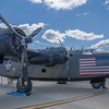 """B-24A Liberator"""" Diamond Lil"""" on display at the Rockford Air Show at Rockford, IL in June 2013"""
