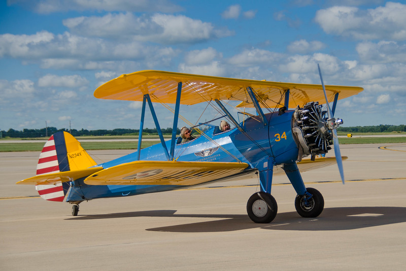 A military trainer on display at the Rockford Air Show in Rockford, IL; June 2013.<br /> <br /> Image 2 0f 3