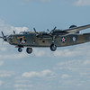 """B-24A Liberator"""" Diamond Lil"""" in flight at the Rockford Air Show at Rockford, IL in June 2013"""