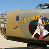 "B-24A Liberator"" Diamond Lil"" on display at the Rockford Air Show at Rockford, IL in June 2013"