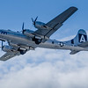 """B-29 """"Fifi"""" in flight at the Rockford Air Show, in Rockford,IL in June 2013.<br /> <br /> Image 1 of 2"""