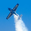 Michael Goulian performs stunts in his Goodyear Whelan Extra 300SC at the Wings Over Houston Airshow, on October 26-27, 2013.<br /> <br /> Image 2of 2