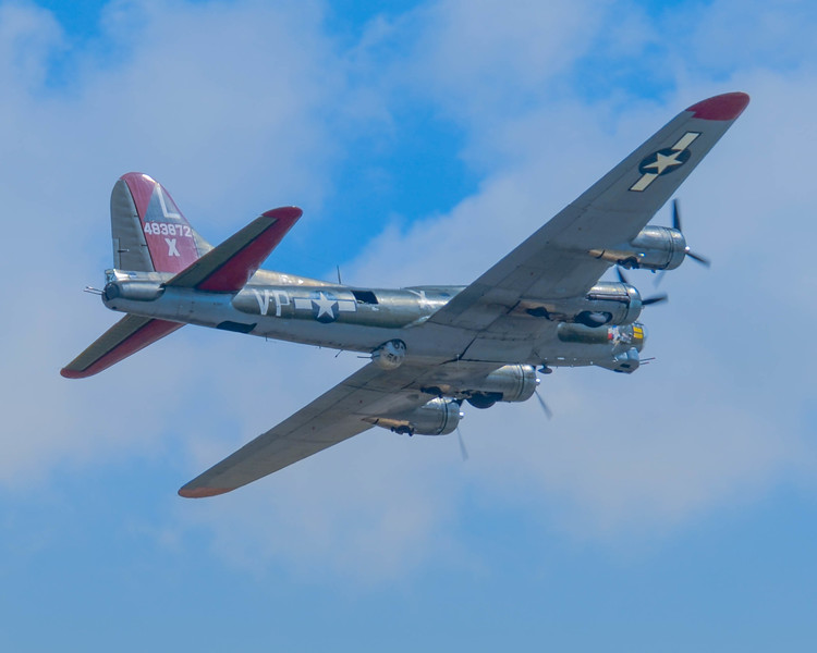 "B-17G ""Texas Raiders"" Flying Fortress in flight at the Wings Over Houston Airshow on October 26-27, 2013.<br /> <br /> Image 6 of 6"