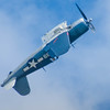 Grumman F4U Corsair in flight at the 2013 Wings Over Houston Airshow, held on October 26-27, 2013.<br /> <br /> Image 2 of 2