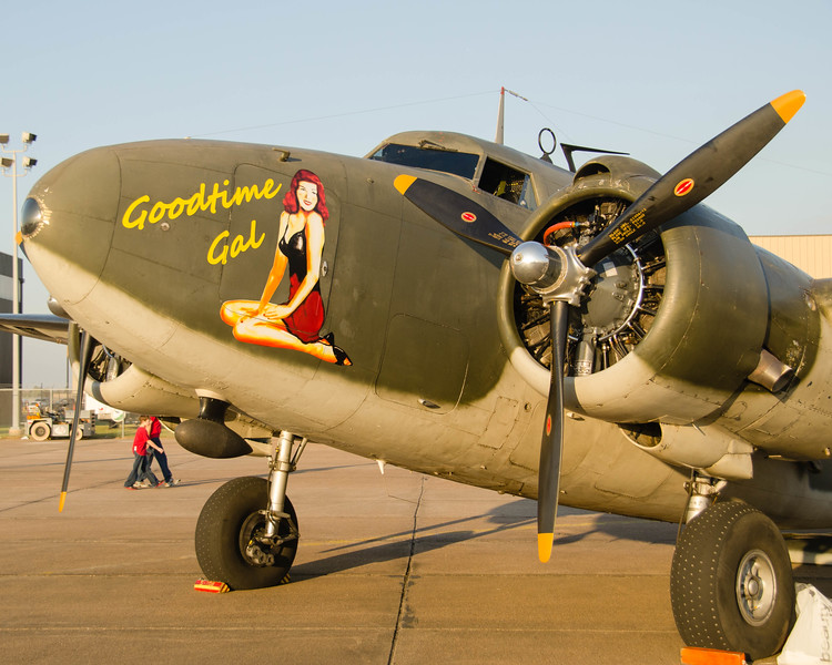 "Lockheed C-60A Lodestar ""Good Time Gal"" on the flight line at the 2013 Wings Over Houston Airshow, on October 26-27, 2013.<br /> This image is sized at 2x3"