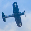 Grumman F4U-5 Corsair in flight at the 2013 Wings Over Houston Airshow, held on October 26-27, 2013.<br /> <br /> Image 1 of 2