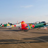 """Replica Kate, Val, and Zero Japanese fighter aircraft on the flight line at the 2013 Wings Over Houston Airshow, October 26-27, 2013.  These planes were used in the """"Tora, Tora, Tora"""" reenactment of the Pearl Harbor attack.<br /> This image is sized at 2x3"""