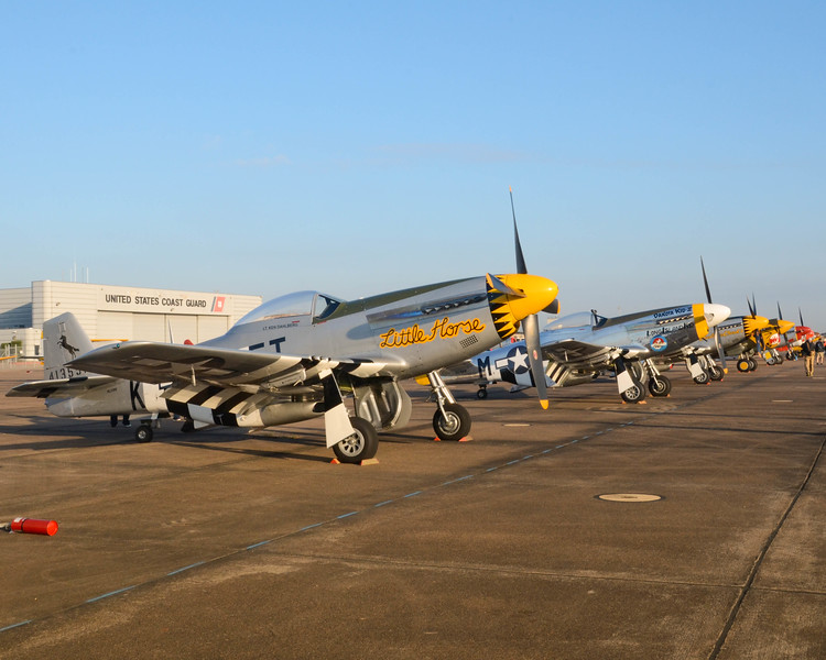 P-51 Mustang basking in the early morning light.<br /> Image taken at the 2013 Wings Over Houston Air Show.<br /> This image is sized at 2x3