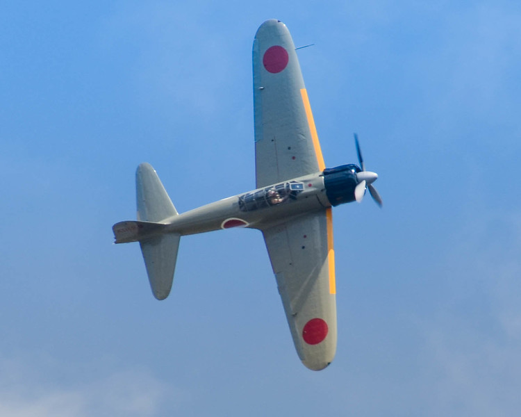 A6M2 Japanese Zero performs for the crowd at the 2013 Wings Over Houston Airshow, held on October 26-27, 2013.