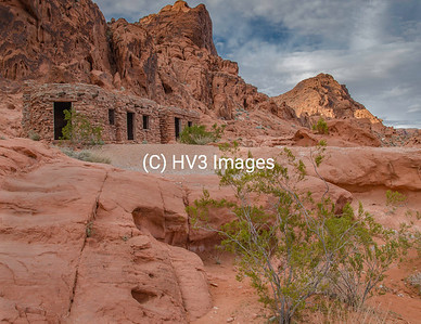 """March Feature Image:  """"The Cabins"""".  The Cabins are a red rock structure built by the Civilian Conservation Corps in the 1930's.  Valley of Fire Start Park, Nevada"""