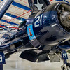 US Navy carrier based F4U Corsair on display at the Lone Star Flight Museum at Galveston, TX