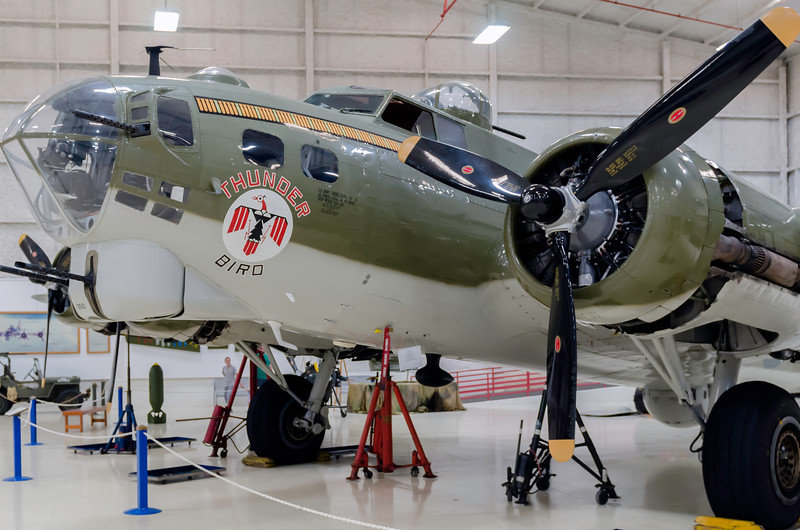 "B-17 ""Thunder Bird"" on display at the Lone Star Flight Museum at Galveston, TX"