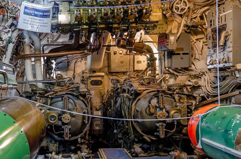 Forward torpedo room, USS Cevalla (SS-244) at the Undersea Warfare Center at Seawolf Park, Galveston, TX