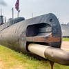 Aft torpedo tube, USS Cevalla (SS-244) at the Undersea Warfare Center at Seawolf Park, Galveston, TX