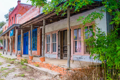Main street... ghost town.... Richards, Texas