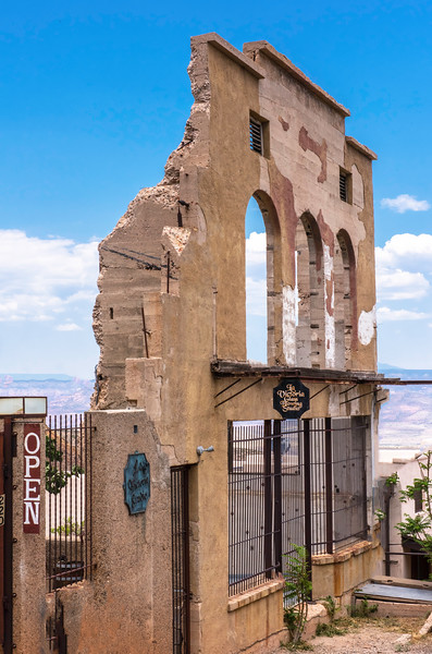 All that remains of the bank in Jerome.
