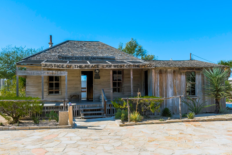 """Law Offices"" of Judge Roy Bean, in it's original condition, as it stands today in Langtry, Texas."