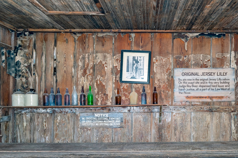 The bar area of the Jersey Lilly saloon.<br /> No cussing and no spitting on the floor y'all...........