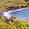 Black Sand Beach, Maui; Hawaii.