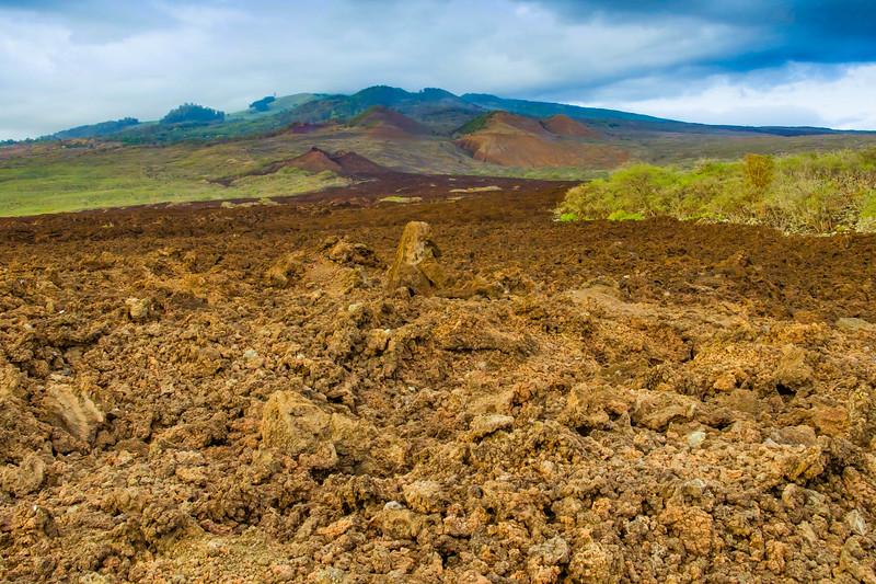 "A lava flow from the ""backside"" of Haleakala Volcano, near La Perouse Bay, Maui, Hawaii"
