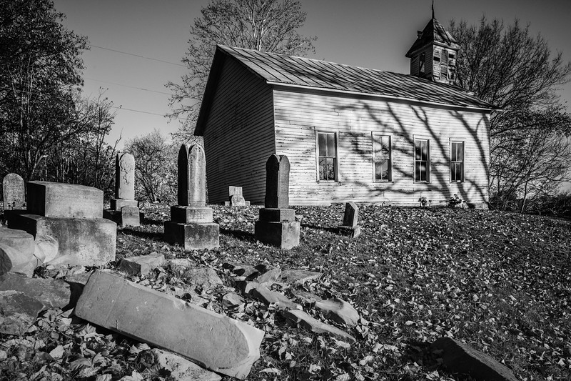 The old church and graveyard near the western outskirts of Piketon off State Route 32.