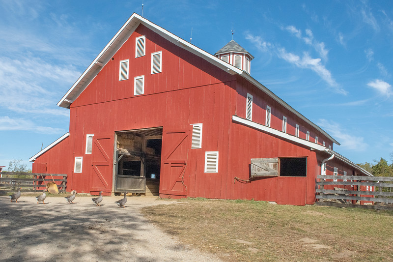 The red barn at Slate Run Metro Park near Canal Winchester, Ohio