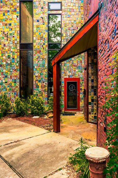 Another one of historic downtown Paducah's interesting photo spots.  The walls of this building are adorned with beautiful tiles.  A must see when visiting Paducah, Kentucky