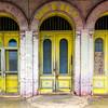 Painted doors<br /> Schulenberg, Texas
