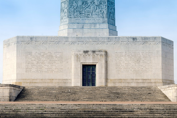 The base of the San Jacinto monument.  All sides of the monument have detailed descriptions of Texas' battles for independence