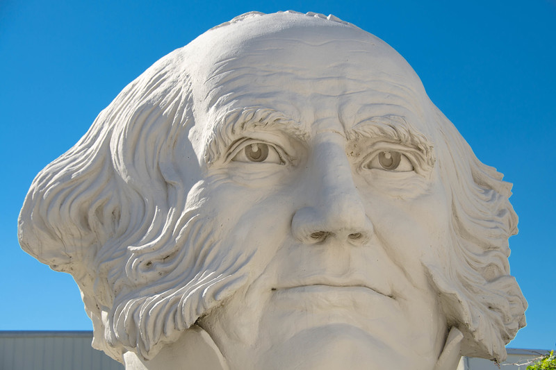Bust of president Martin Van Buren, David Adicke SculptrWorx Studios, Houston, Texas.