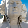 Busts of US presidents James Madison (foreground) and Andrew Johnson, at the David Adicke SculptrWorx Studio, Houston, Texas.