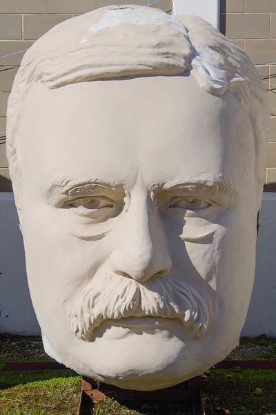 Bust of president Teddy Roosevelt, David Adicke SculptrWorx Studios, Houston, Texas.