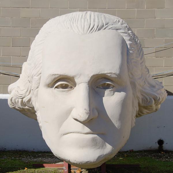 Bust of America's first president,George Washington; David Adicke SculptrWorx Studios, Houston, Texas.