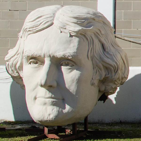 Bust of president Thomas Jefferson, David Adicke SculptrWorx Studios, Houston, Texas.