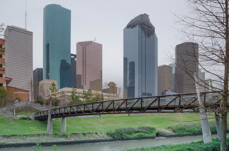 A view of the business district of Houston, Texas