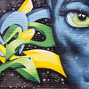 Captivating wall art near downtown Houston, Texas<br /> Artist unknown