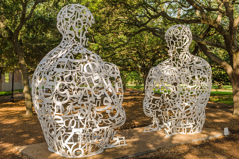 Sculptures near Rice University in Houston, Texas