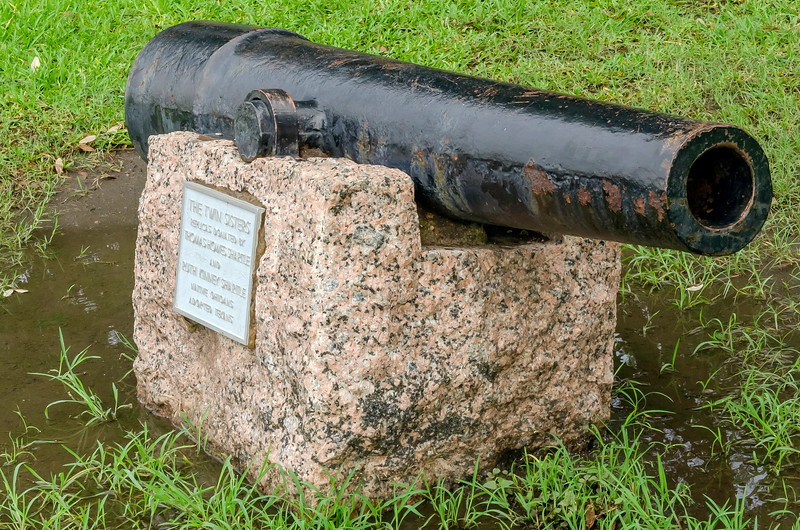 One of the old cannons used in the battle for Texas' independence at the San Jacinto battlefield near Houston, Texas