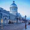 Marche Bonsecours stands along the cobblestone street.<br /> <br /> In color.......<br /> <br /> Old Town Montreal