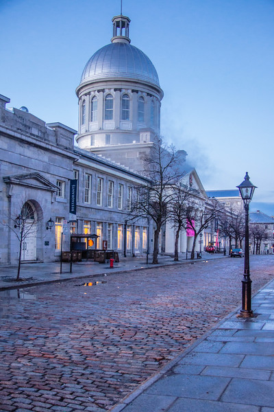 Marche Bonsecours stands along the cobblestone street.<br /> <br /> Old Town Montreal